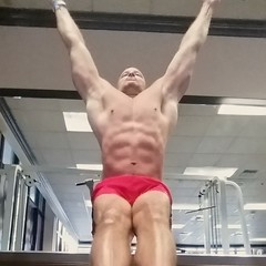 Hanging abs (ddman_70) Tags: shirtless gym workout abs