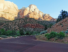 Sunset Crossroad, Zion NP 2014 (inkknife_2000 (7 million views +)) Tags: zionnationalpark usa landscapes nationalparks redrockformations nature hiking utah utahnationalparks dgrahamphoto sunset firstlight sunriseandsunset mtcarmelroad hwy 9 intersection