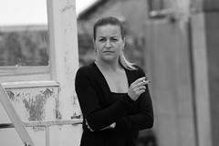 IMG_0545 (Yorkshire Pics) Tags: woman smoker smoking womansmoker womensmokers people 1009 10092016 blackandwhite blackwhite stern sternlook