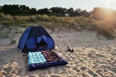 Tent on the beach (William Veder) Tags: 35mm a1 analog canon film filmisalive filmisnotdead ishootfilm reise streetphotography urlaub williamveder williamvederfotograf fuji superia xtra 400