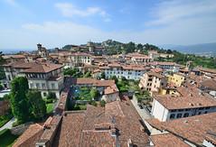 A view from the Campanone/Torre Civica (Clock Tower), Bergamo Citta Alta (Alona Azaria) Tags: bergamo cittaalta campanone torre civica clocktower sanvigilio italy italia lombardy lombardia