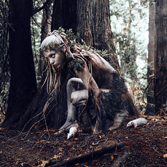Neridos (Kindra Nikole) Tags: fae fairy dryad portland antler gallery rats moss ivy forested fantasy dark surreal otherworldly gritty bark pacific northwest