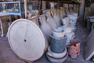 Pompeii - Forum Old Granary Artifacts Storage Amphorae & Bowls