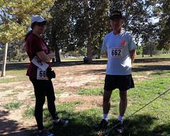 012 Nancy And John At The Start (saschmitz_earthlink_net) Tags: 2016 california encino lakebalboa orienteering laoc losangelesorienteeringclub losangeles losangelescounty lakebalboaanthonycbeilensonpark