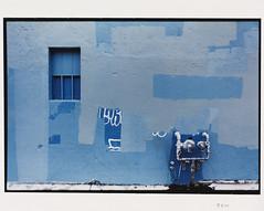 (Jeremy Whiting) Tags: full frame 35mm canon film ae1 eastern market detroit blue wall geometry 2d urban city fragment psychogeography derive flaneur rectangles minimal paint graffiti shades layers michigan analog verification border chromogenic print scan