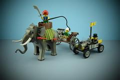 Lego 7414 : Elephant Caravan (Alex THELEGOFAN) Tags: lego legography elephant 7414 caravan car hot rod cape babloo minifigures minifigure minifig minifigs minifigurine orient expedition adventure girl animals animal land set 2003