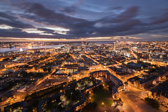 Dusky Metropolis (Rob Pitt) Tags: dusk liverpool skyline tower tours anglican cathedral merseyside sunset light tokina 1116 750d outdoor city lights dusky metropolis