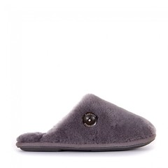 Carey - Sheepskin Mule Slippers - Grey (Bedroom Athletics) Tags: womens carey sheepskin mule slippers grey by bedroom athletics 100 genuine australian lined textile covered nonslip branded tpr sole wooden button suede embossed logo footbed web exclusive bedroomathletics bed room warm buy lovely lady woman warmth lush nice gift new comfy cosy indoors chillout fur faux designer custom made special fabric comfortable passion fashion fashionable trendy cool popular