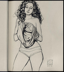 Collectors Edition drawing in ink @inktober #inktober (Dorian Vallejo) Tags: art fine drawing figure mixed media drawings oil painting dorian vallejo