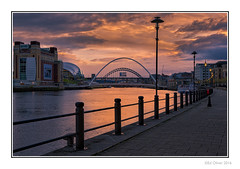 The Quayside (Seven_Wishes) Tags: newcastleupontynenortheast canoneos5dmark3 canonef24105mmf4lis outdoor photoborder hdr aurorahdr newcastle gateshead quayside thebaltic thesage rivertyne water river reflection bridge bridgesonthetyne tynebridge gatesheadmillenniumbridge millenniumbridge sunset buildings urban waterfront lampposts newcastleupontyne tyneandwear uk