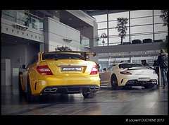 Mercedes Benz C63 AMG Black Series & SLS AMG Black Series (Laurent DUCHENE) Tags: mercedes benz mercedesbenz sls amg blackseries c63