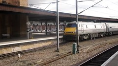 Class 91 East Coast Trains Intercity to Scotland calling at York (Nik Morris (van Leiden)) Tags: york rail trains railways class91 eastcoasttrains