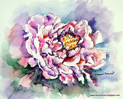 Peony (Laura Climent) Tags: flower watercolor flor peony acuarela dibujo tinta lauracliment