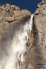 Upper Yosemite Falls On A WIndy Day (Charlotte Hamilton Gibb) Tags: usa yosemitefalls water waterfall nationalpark places yosemite yosemitenationalpark yosemitevalley upperyosemitefalls charlottegibbphotography charlottegibb