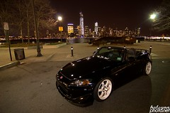 Alex Trench's S2000 (Halcyon Photography) Tags: world city nyc sunset sky skyline night dark photography one nikon soft time top manhattan automotive halcyon clean poke jersey static wtc hd jdm volk tr slammed te37 staggered usdm hellaflush d7000 halcyonphoto