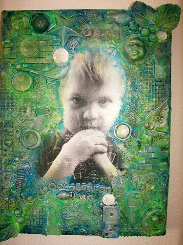 "Mixed Media Canvas ""Beautiful Boy"""