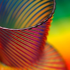 Rainbow Glass (j.towbin ©) Tags: macro texture glass lines rainbow colorful vivid edge rim multicolor glassvase allrightsreserved© macromonday allrightsreserved©