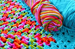 wonky and bright (LolaNova) Tags: acrylic bright handmade crochet yarn blanket wonky craftingundertheinfluence