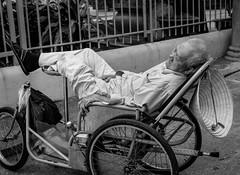(Nathan A Rodgers) Tags: travel portrait blackandwhite bw 1 asia southeastasia vietnam elderly saigon hochiminhcity streetscenes 2012 travelphotography