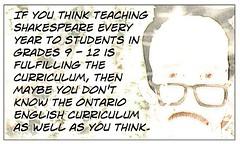 "Educational Postcard:  ""Do you know the curriculum?"" (Ken Whytock) Tags: school ontario students education shakespeare grades teaching teachers curriculum"