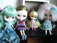 Blythe A Day April 23rd:  4 Different Hairstyles