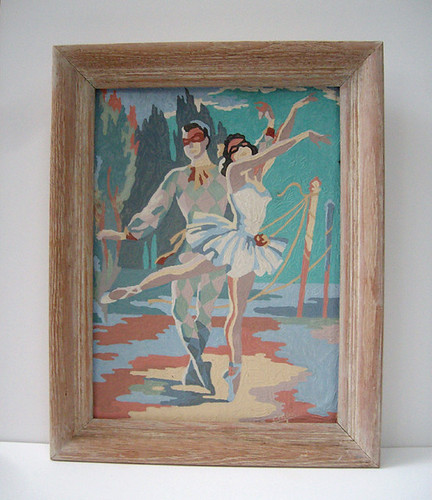 Vintage Paint by Number Dancers