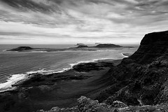 Rugged (Barry_Madden) Tags: blackandwhite landscape islands spain rocks rocky lanzarote canarias coastline canaryislands rugged haría