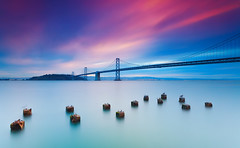 Beautiful morning | Bay Bridge, San Francisco (Taha Elraaid) Tags: california morning bridge usa beautiful bay san francisco taha