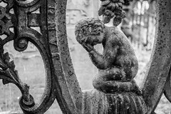 Weeping Angel (Tom Whitney Photography) Tags: blackandwhite bw halloween angel rusty weeping photoshelter