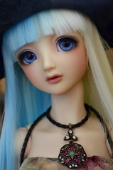 Pendant (Purple ♥ Enma) Tags: girl ball doll dolls mami super wig bjd resin dollfie volks creamy bicolor jointed napidoll