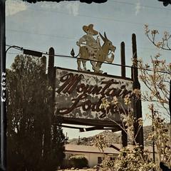Mountain Lodge (pam's pics-) Tags: newmexico sign vintage route66 burro sombrero nm stereotype mountainlodge northernnewmexico themotherroad pammorris pamspics tijerasnewmexico nikond5000 notahotelanymore april2012roadtrip