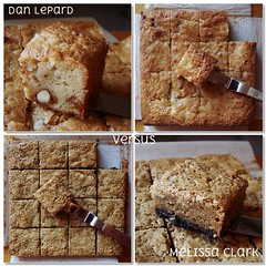 Battle of Banana Blondies (ComeUndone) Tags: cookies dessert baking cookie walnut banana caramel valrhona rum blondie toffee whitechocolate butterscotch maldonseasalt brazilnut shortsweet chocolatewafercookie brownedbutter melissaclark beurrenoisette barcookie danlepard howtobake