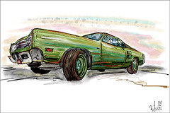 green hornet (rafaelmucha) Tags: auto art car digital painting us sketch paint aquarell cintiq uscar wacon 13hd