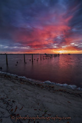 Charlotte Harbor Sunrise 4-18-2013 (John Elias Photography) Tags: county color beach clouds port sunrise harbor colorful skies charlotte explosion dramatic johneliasphotographycom