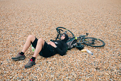 Sleepy cyclist #2 (lomokev) Tags: sleeping portrait england man male beach bike sport canon private person eos brighton cyclist unitedkingdom stones sleep human 5d exhausted londontobrighton sleeeping canoneos5d chrisayres londontobrighton2012 file:name=120617eos5d9072 fiel:name=120617eos5d9061