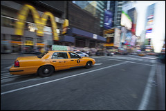 IMG_1695 (Damien DEROUENE) Tags: nyc ny newyork cab taxi timessquare panning damienderouene