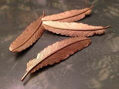 Feather hairpins (run amok) Tags: feather hairpin bobbypin uploaded:by=flickrmobile flickriosapp:filter=nofilter