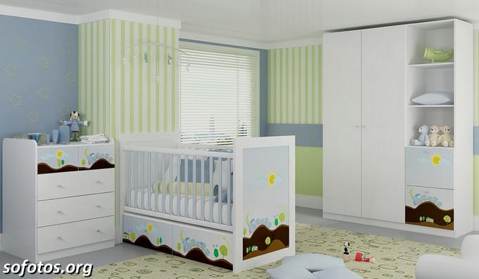 Quarto de bebe azul e verde Kappesberg
