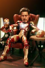 """Take a Break..."" (Tony Stark) (EdwardLee's collection) Tags: 3 man movie toy toys actionfigure iron comic action mark ironman collection suit figure marvellegends marvel hasbro mcfarlane xlii hottoys edwardlees ezhobi"