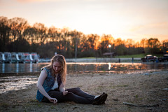 Lara (111/365) (scott_scheetz) Tags: sunset portrait people classic canon indiana lara 5d bloomington indianauniversity fullframe sunsetlight canonef2470mmf28lusm lakemonroe day111 in mark1 day111365 3652013 adobelightroom43 365the2013edition 21apr13