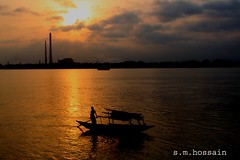 In the Name of Allah, the Most Beneficent, the Most Merciful. (manwar2010) Tags: people art nature canon geotagged boat asia uluberia