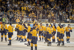 Victory (Tom Frundle Photography) Tags: hockey nashville pentax victory celebration april win winners k5 nashvillepredators smashville downtownnashville 2013 nhlhockey bridgestonearena tomfrundlephotography