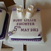 White Booties Christening Cake
