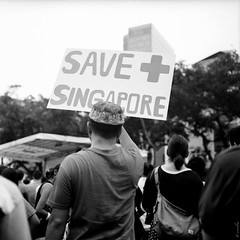 May Day protest-4 (ern st.) Tags: 6x6 tlr monochrome mediumformat singapore kodak400tx rolleiflex28c honglimpark may1stprotest