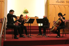 Night Music Quartet (mtnbiker404) Tags: tim concert violin cello string benefit viola fundraiser quartet franzschubert alittlenightmusic antonindvorak torontopeoplewithaidsfoundation torontochineseunitedchurch