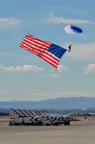 United States Air Force (USAF) Wings of Blue Parachute Team - Aviation Nation 2012 - Day One - Nellis Air Force Base (LSV) - November 10, 2012 1 088 RT CRP