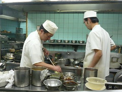 The chefs hard at work (seikinsou) Tags: kitchen japan menu restaurant spring chinese cook chef meal osaka takeaway ingredient