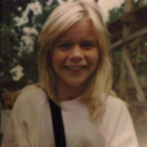#tbt from my sister @loggytrips who sends me hilarious photos of myself via text. Circa 1990ish, about Lulu's age.