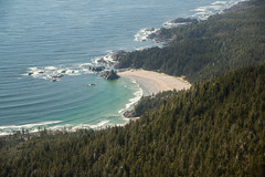 20130506D8E_3493 (cisco42) Tags: ocean trees summer lighthouse canada beach sunshine forest coast bc britishcolumbia shoreline rocky vancouverisland northamerica saltwater lightstation2013