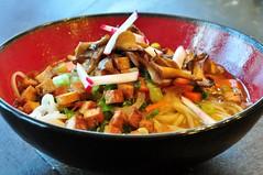 Ramen with Oyster Mushrooms (tofu666) Tags: food dinner mushrooms soup vegan ramen noodles flickr:user=tofu666